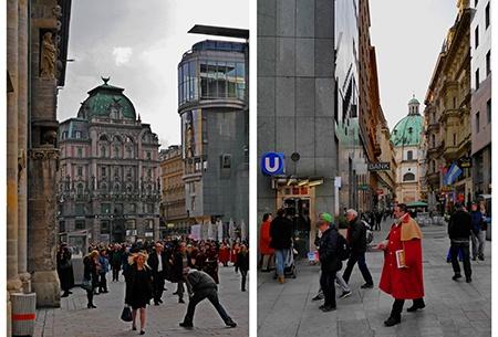 Vídeň - kombinace historické a moderní architektury