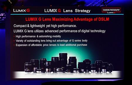 nabídka objektivů Lumix G - panel z vídeňské prezentace