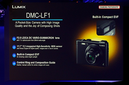 Panasonic Lumix DMC-LF1 - panel na prezentaci ve Vídni