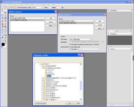 skenování do programu ArcSoft PhotoStudio