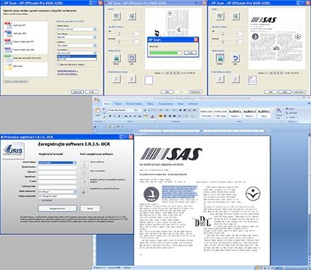 skenování textu s využitím OCR programu