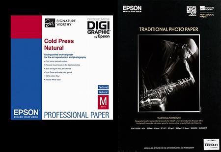 fotopapíry s certifikací DIGIgraphie by Epson
