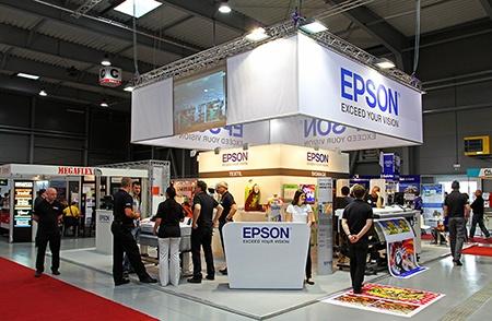expozice EPSON na veletrhu Reklama-Polygraf 2013
