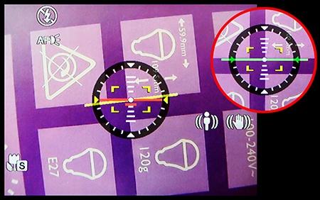 BenQ GH800 - výklopný displej zobrazuje i umělý horizont