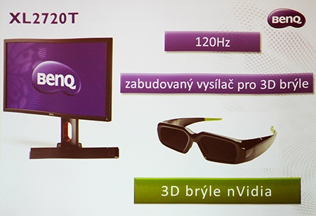 BenQ monitory - 3D ready