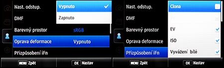 LCD: nastavení i-Function, náprava distorze obrazu, ...
