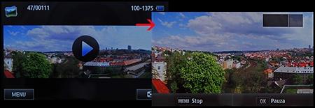 LCD: přehrávání široké souvislé panorámy