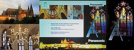 Panasonic a jeho podíl na renovaci osvětlení Hradčan