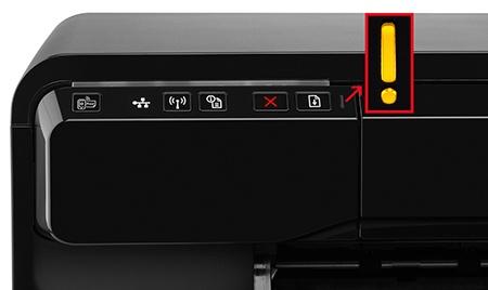 HP Officejet 7110 Wide Format ePrinter - ovládací a kontrolní prvky vlevo