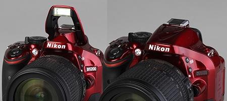 Nikon D5200 - výklopný blesk
