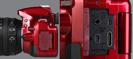 Nikon D5200 - konektory