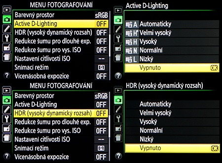 LCD: ADL a HDR