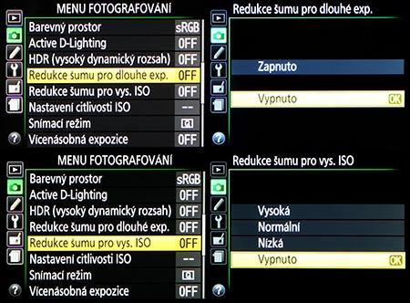 LCD: redukce šumu