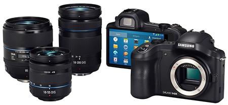 Samsung GALAXY NX - objektivy