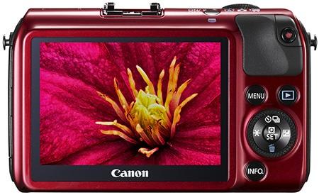 Canon EOS M - dotykový LCD
