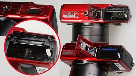 Canon EOS M - baterie a paměťová karta