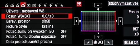Canon EOS M: WB Bracketing