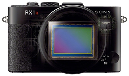 Sony Cyber-shot RX1R - pohled na senzor