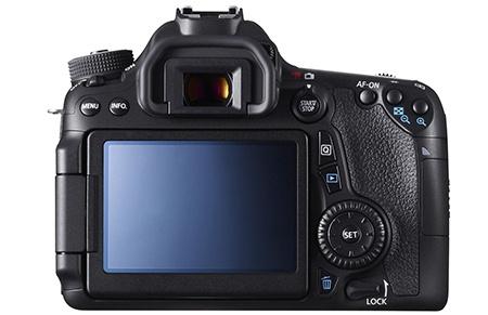 Canon EOS 70D - zadní stěna