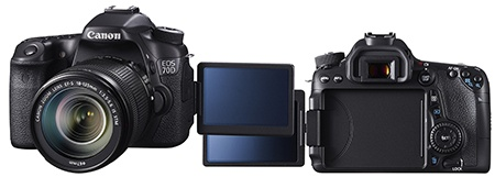 Canon EOS 70D - výklopný a otočný displej