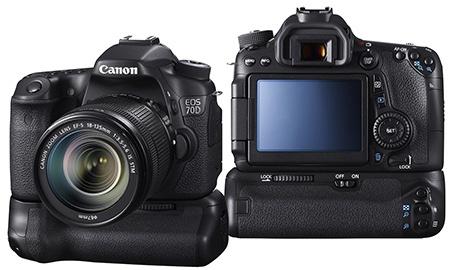Canon EOS 70D s bateriovým gripem
