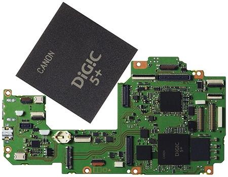 Canon EOS 70D - elektronický obvod s procesorem DIGIC 5+
