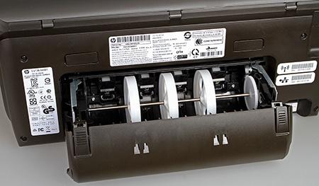 HP Officejet Pro 251dw otevřená duplexní jednotka