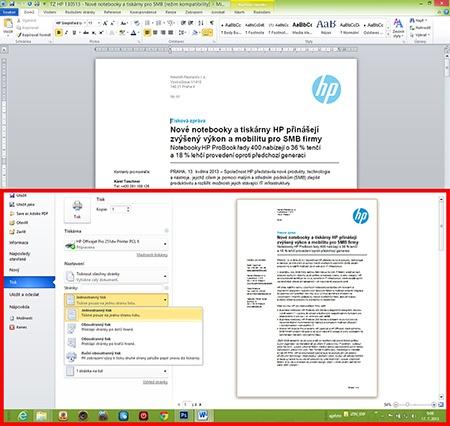 HP Officejet Pro 251dw - oboustranný tisk I