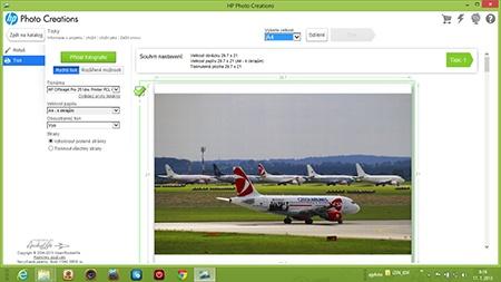 HP Officejet Pro 251dw - tisk via HP Photo Creations