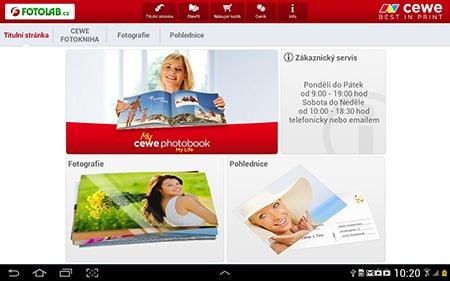 mobilní aplikace CEWE FOTOSVĚT