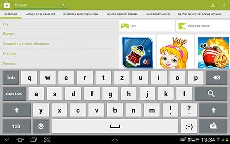 vyhledávací okno na Obchod play, Google play
