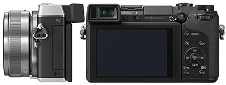 Panasonic Lumix DMC-GX7 - zezadu a zboku