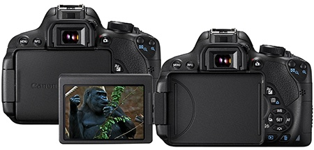Canon EOS 700D zezadu - flexibilní dotykový LCD