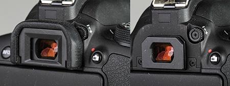 Canon EOS 700D - okulár hledáčku a ovladač dioptrické korekce