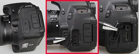 Canon EOS 700D - konektory