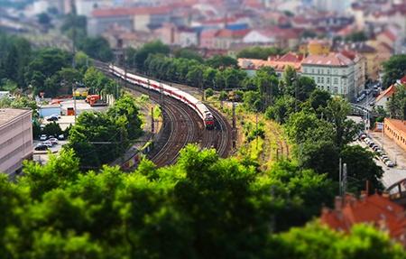 vlak IV - efekt miniatury I