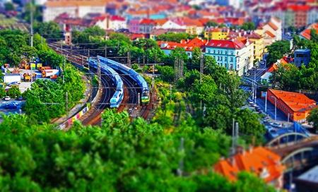 vlak V - efekt miniatury II