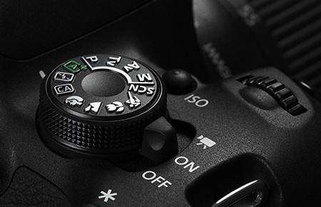 Canon EOS 700D - otočný volič režimů expozice