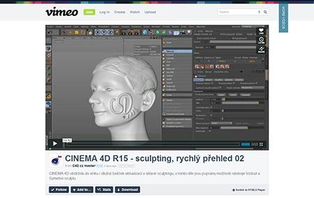 Video na Vimeo.com: CINEMA 4D R15, evoluce – rychlý přehled, sculpting II.