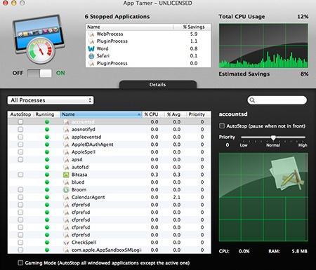 Stopped Apps II - kliknutím otevřete větší v novém okně