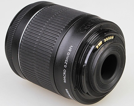 Canon EF-S 18–55 IS STM - bajonet