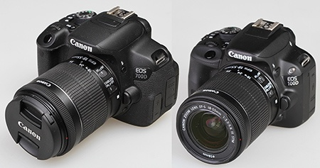 Canon EF-S 18–55 mm 1:3,5–5,6 IS STM a zrcadlovky Canon EOS 700D a 100D
