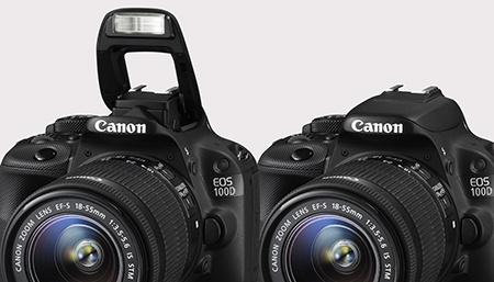 Canon EOS 100D - výklopný blesk