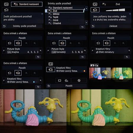 kreativní automatika - extra snímek s efektem