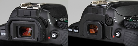 Canon EOS 100D - okulár hledáčku