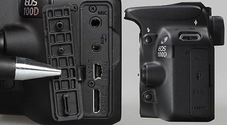 Canon EOS 100D - konektory