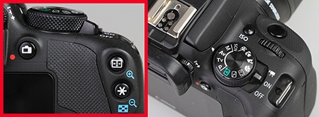 Canon EOS 100D - ovládací prvky