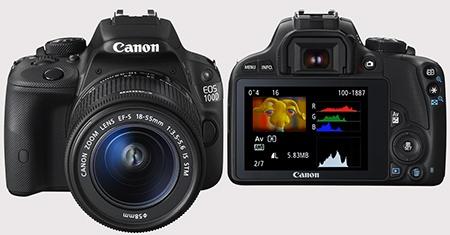 Canon EOS 100D - zepředu a zezadu