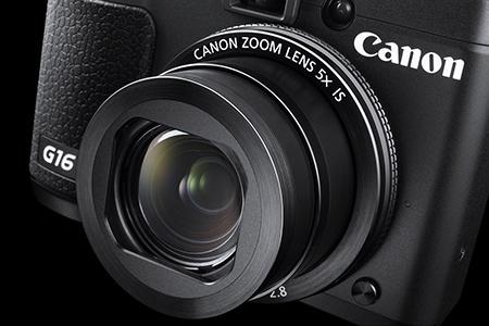 Canon PowerShot G16 - detailní pohled na objektiv