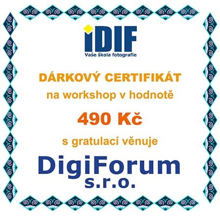 dárkový certifikát na workshop v hodnotě 490 Kč od DigiFora, s.r.o.